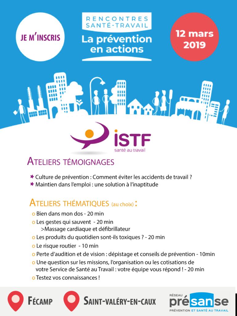 programme ISTF - Rencontre santé travail 12 mars
